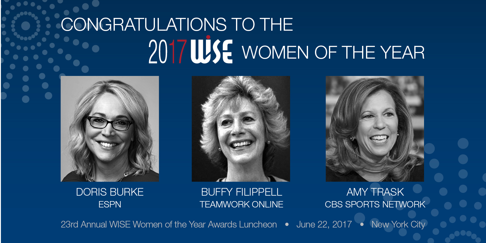 2017 WISE Women of the Year Honorees